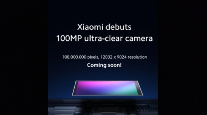 XiaomiDebuts 100 mp ultra Clear Camera
