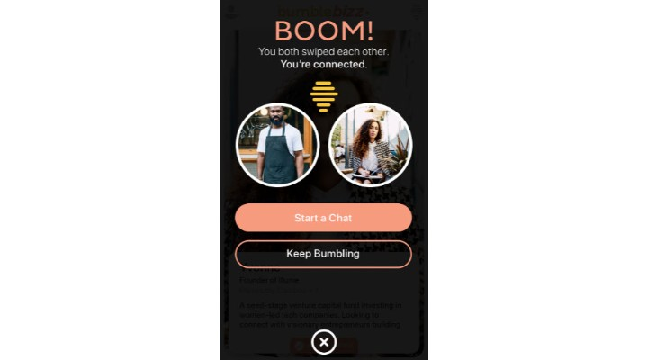 Bumble app interface