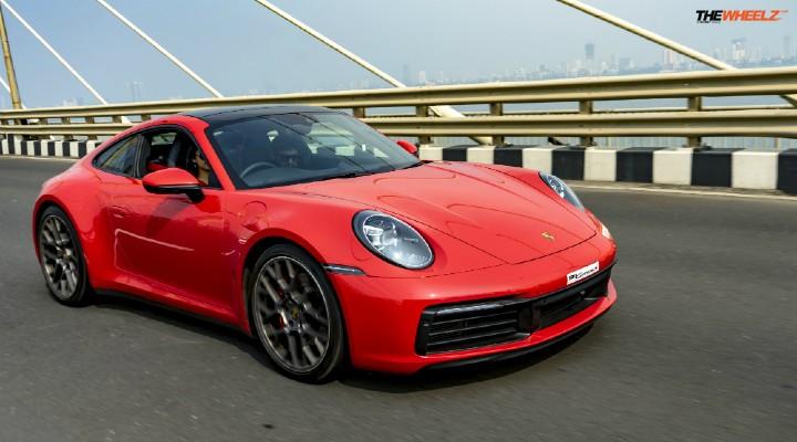 Porsche 911 Carrera S front profile
