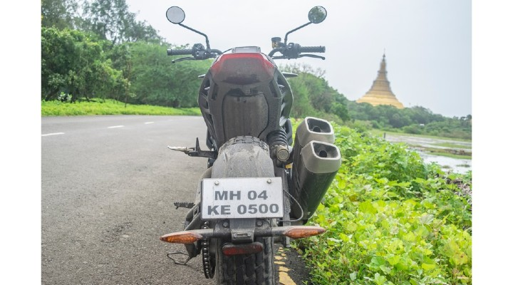 Indian ftr 1200 rear profile