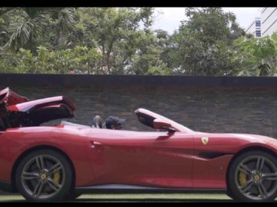 Ferrari Portofino & Motorola Razr I Sleek Convertible X Futuristic Foldable Screen