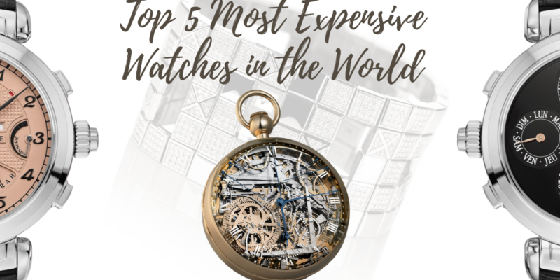 Fancy a luxury timepiece? These five are the costliest!
