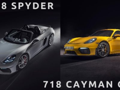 718 Spyder and the 718 Cayman GT4 - Exhibit
