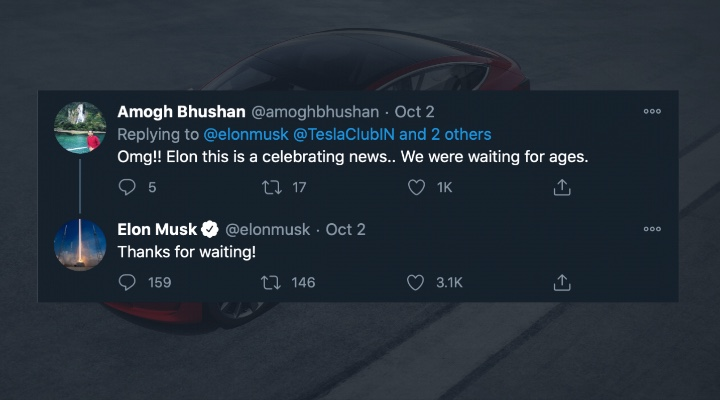 Tesla in India 2021 Tweet - Exhibit Magazine