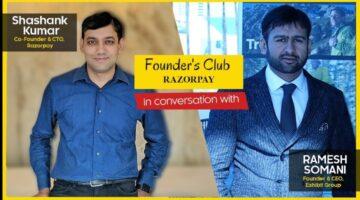 Founders Club   Shashank Kumar, Co Founder - Razorpay   Leadership Series