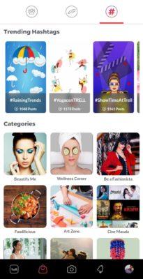 Trell App Hashtags